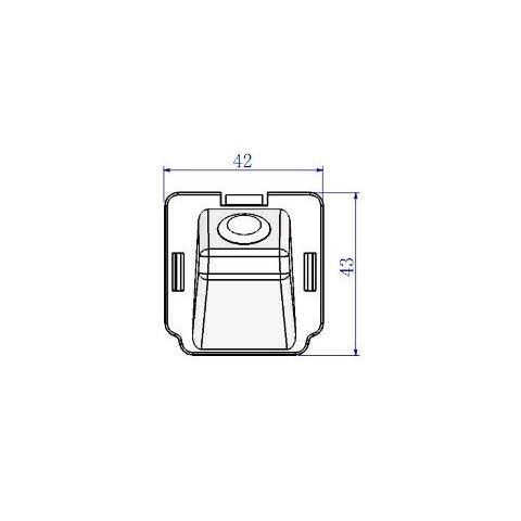Автомобільна камера заднього виду для Mitsubishi Outlander Прев'ю 4