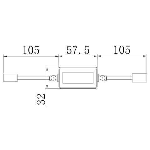 Адаптер CAN-шини для запобігання помилок світлодіодних ламп головного світла UP-DE-H11 Прев'ю 1