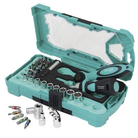 Набір біт з тріскачкою та ключем ProsKit SD-2317M Прев'ю 5