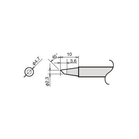 Soldering Iron Tip Goot RX-80HRT-2.3BC Preview 1