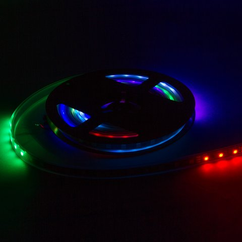 RGB LED Strip SMD5050, WS2811 (white, with controls, IP65, 12 V, 60 LEDs/m, 5 m) Preview 2